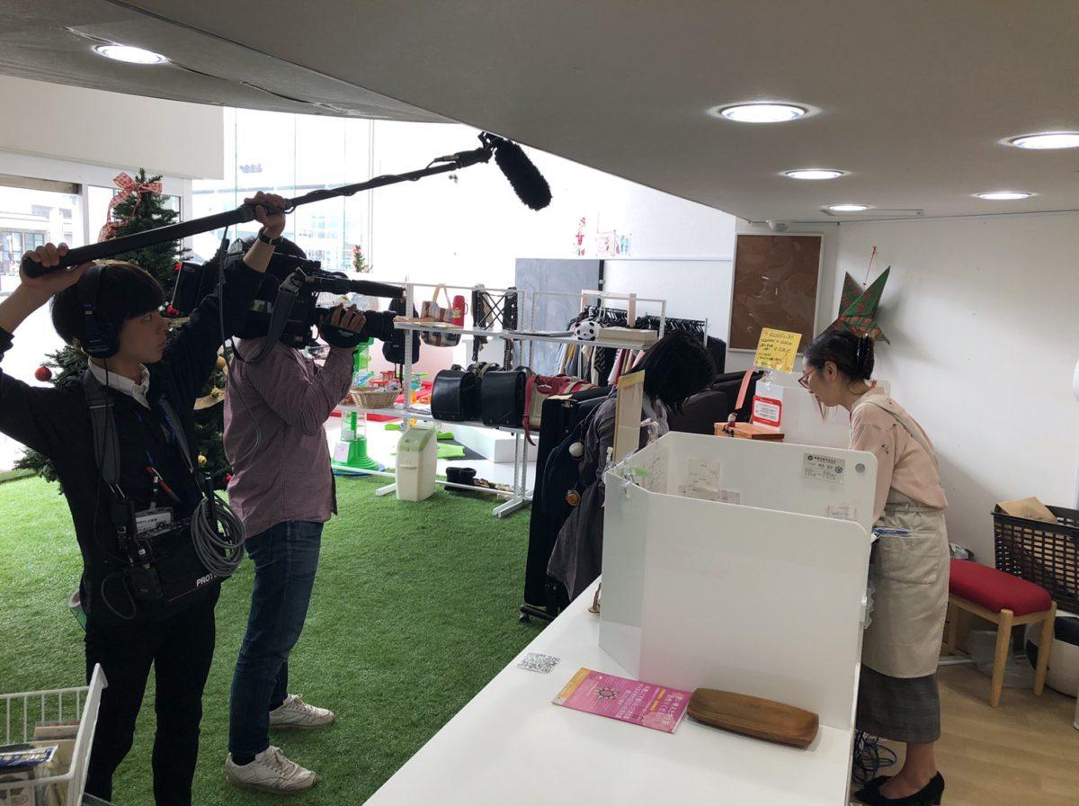 沖縄テレビさんが取材にきてくれました(^^)